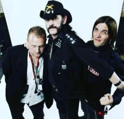 Pictured right next to Lemmy (Motorhead)